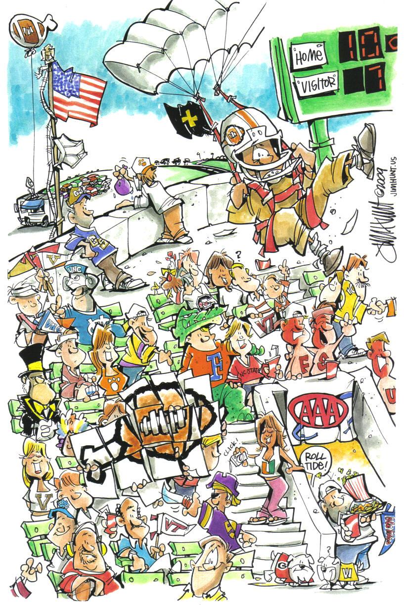 Cartoon Crowd Scenes Cartoon Crowd Scenes